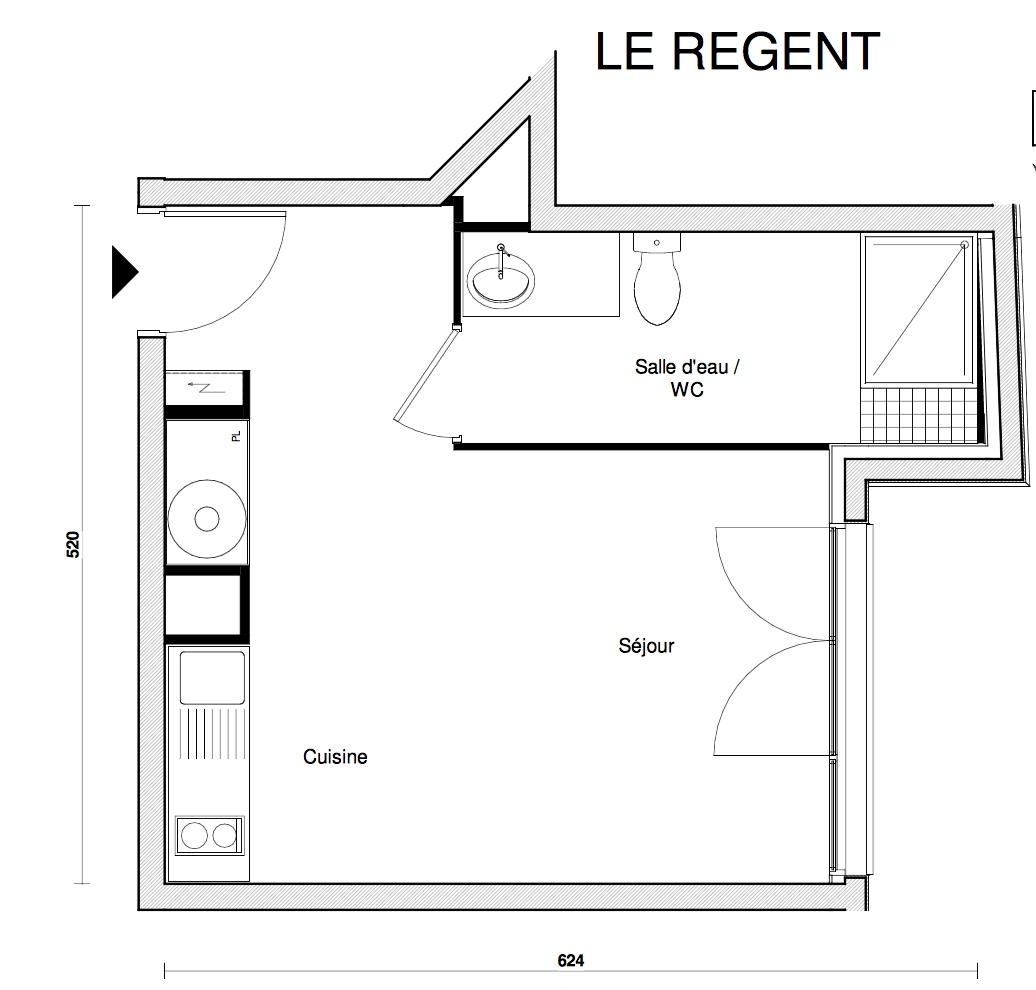 T1 - 26,97 m² - RdC