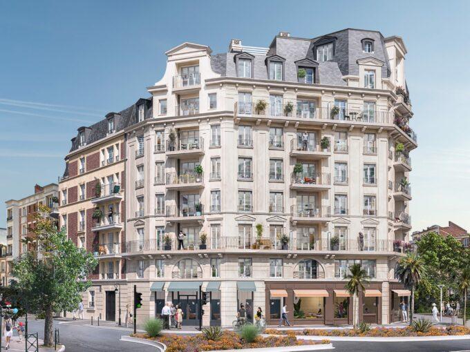 Carré Foch La Garenne Colombes 92:Brun Immobilier Neuf:Vente de Logements Neufs en Ile de France