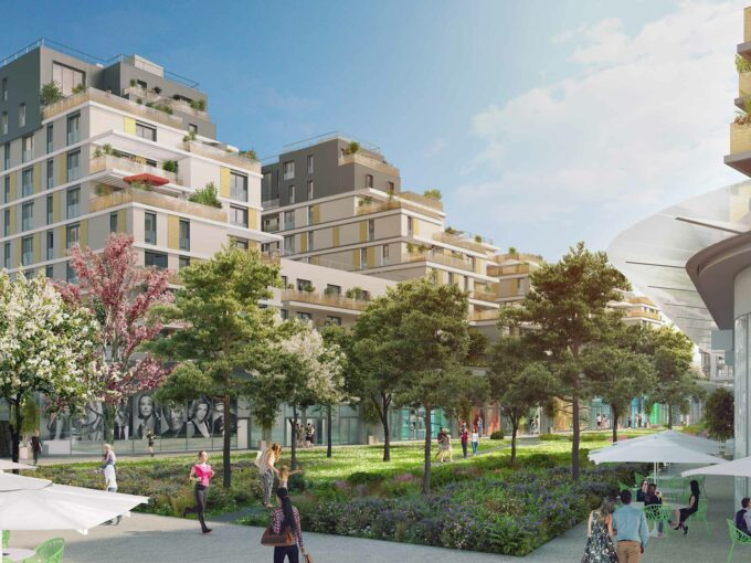 Issy Coeur de Ville à Issy les Moulineaux 92:Brun Immobilier Neuf:Vente de Logements Neufs en Ile de France