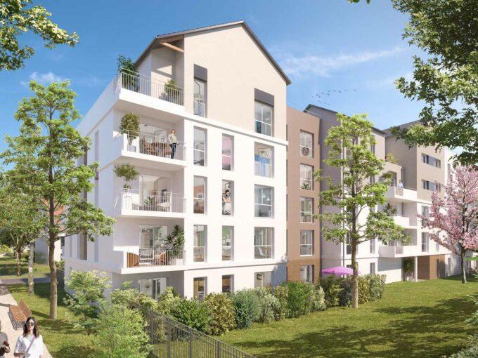 Central Nature à Melun 77:Brun Immobilier Neuf:Vente de Logements Neufs en Ile de France